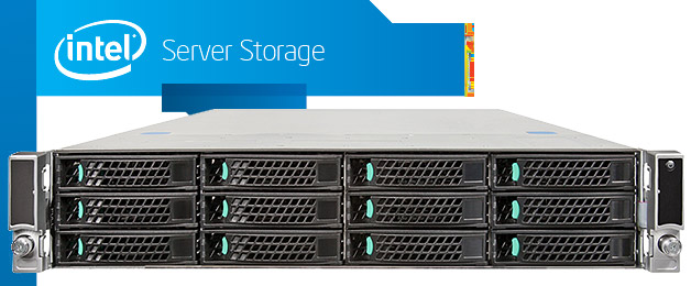 Intel JBOD2000 2U rack storage szerver 1