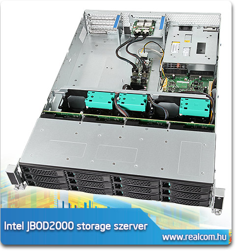 Intel JBOD2000 2U rack storage szerver 2