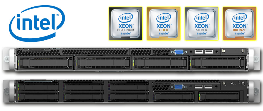 Intel Dual Xeon 2nd Gen. Scalable (Cascade Lake), 1U rack szerver