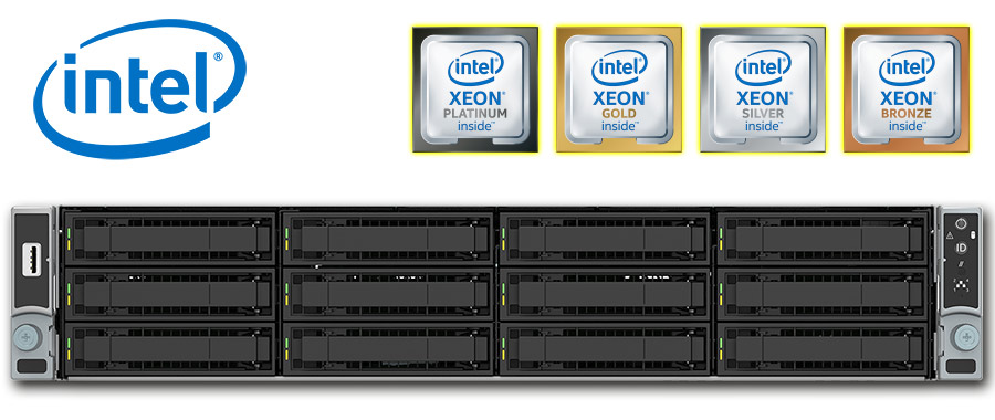 Intel Dual Xeon 2nd Gen. Scalable (Cascade Lake), 2U rack szerver
